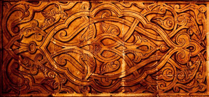 Coloured arabian ornamental carvings stock photo