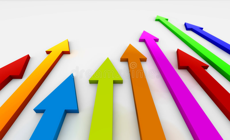 Download Coloured arrows stock illustration. Image of revenues - 8754788