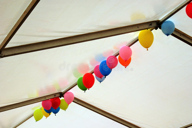 Coloured Balloons floating stock photography