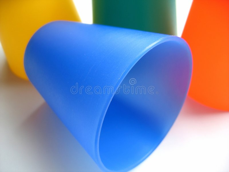 Coloured Beakers royalty free stock images