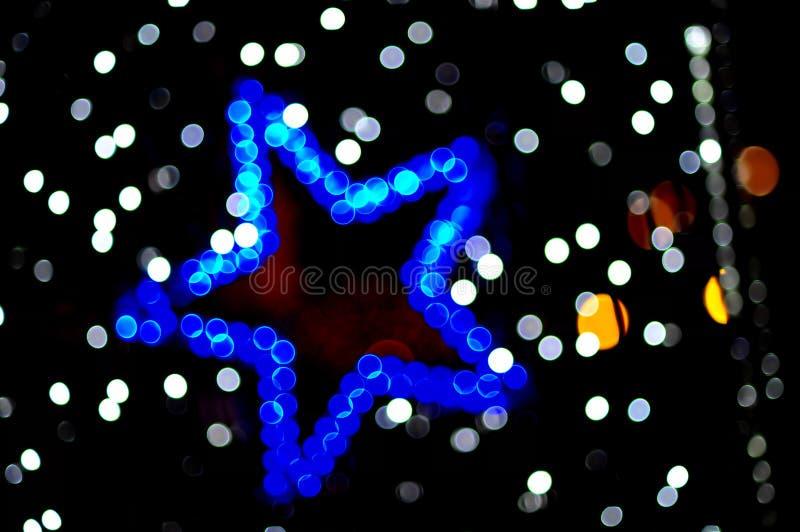 Coloured blurred star