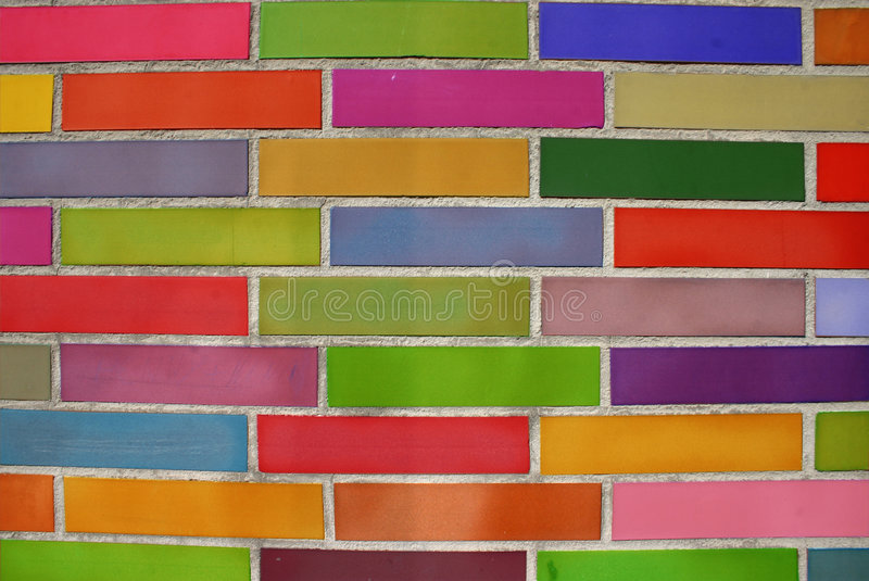 Coloured bricks stock images