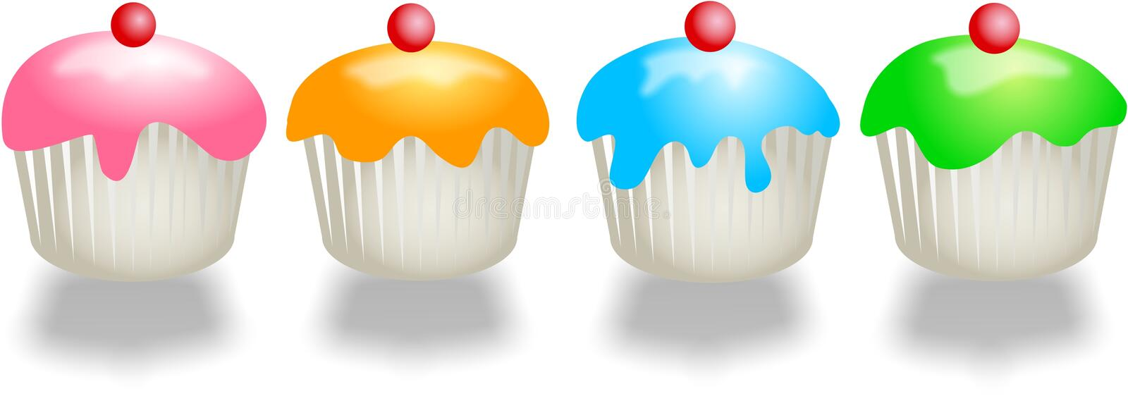 Coloured Buns stock illustration