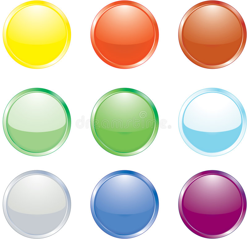 Coloured Buttons stock illustration