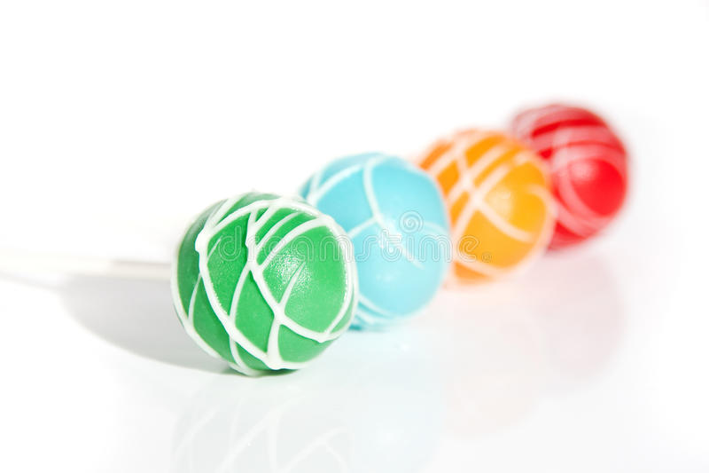 Coloured Cake Pops stock image