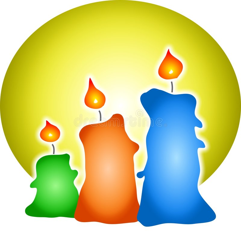Download Coloured Candles stock illustration. Illustration of fire - 38336