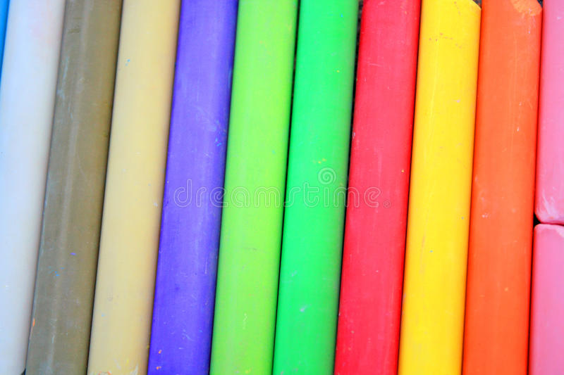 Coloured chalks royalty free stock image