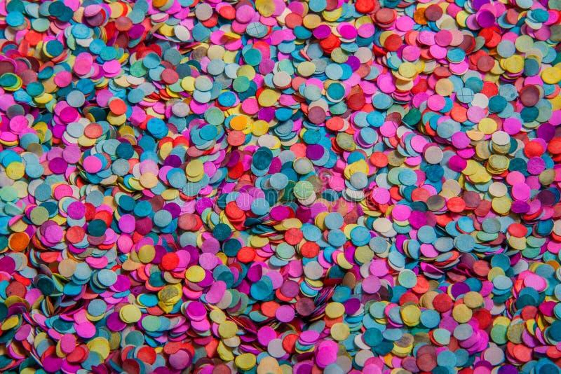 Coloured confetti stock photo