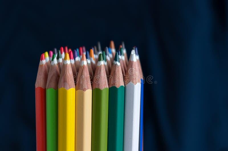 coloured crayons royaltyfri bild