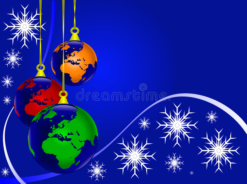 Coloured Earth Christmas Baubles