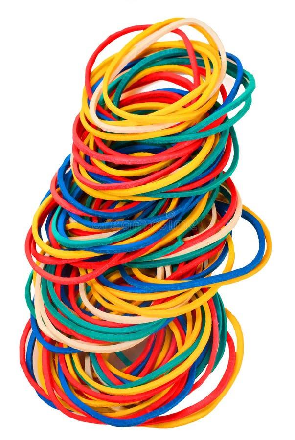 Coloured Elastic Bands Stock Photos