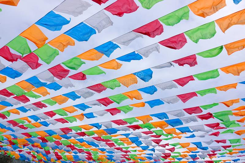 Coloured flags royalty free stock images