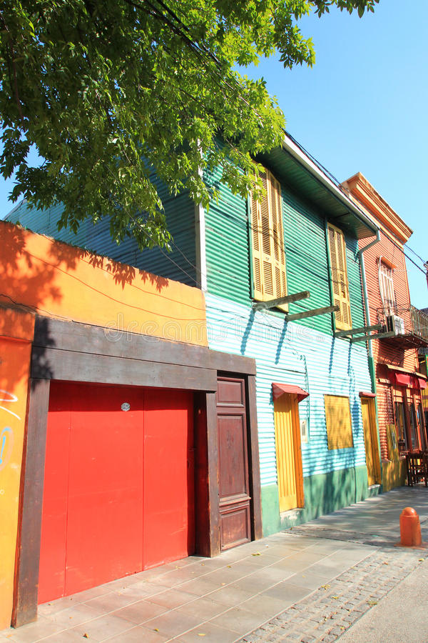 Coloured house of La Boca stock photography