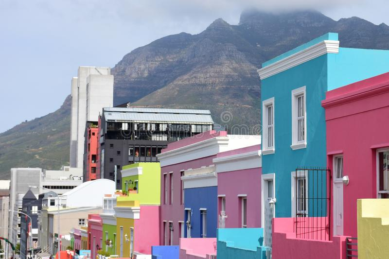 Coloured Houses, Bo-Kaap, Cape Town, South Africa royalty free stock photo