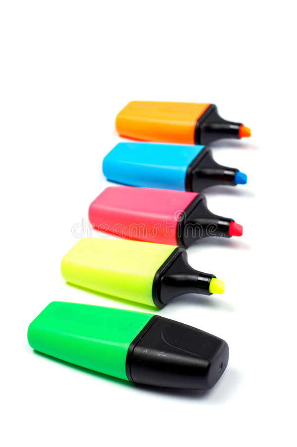 Coloured labellers stock photography