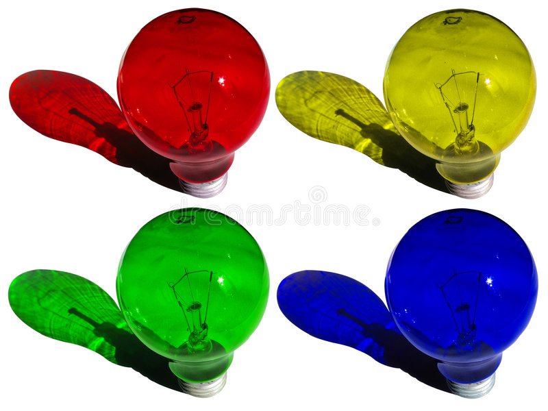 coloured lamps royalty free stock images
