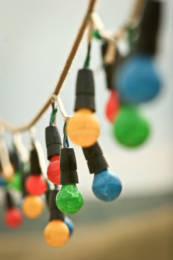 Free Coloured Light Bulbs Stock Image - 21539771