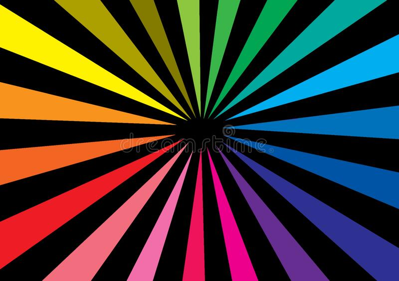 Coloured lines representing depth of space. For use with design layouts and content creation vector illustration