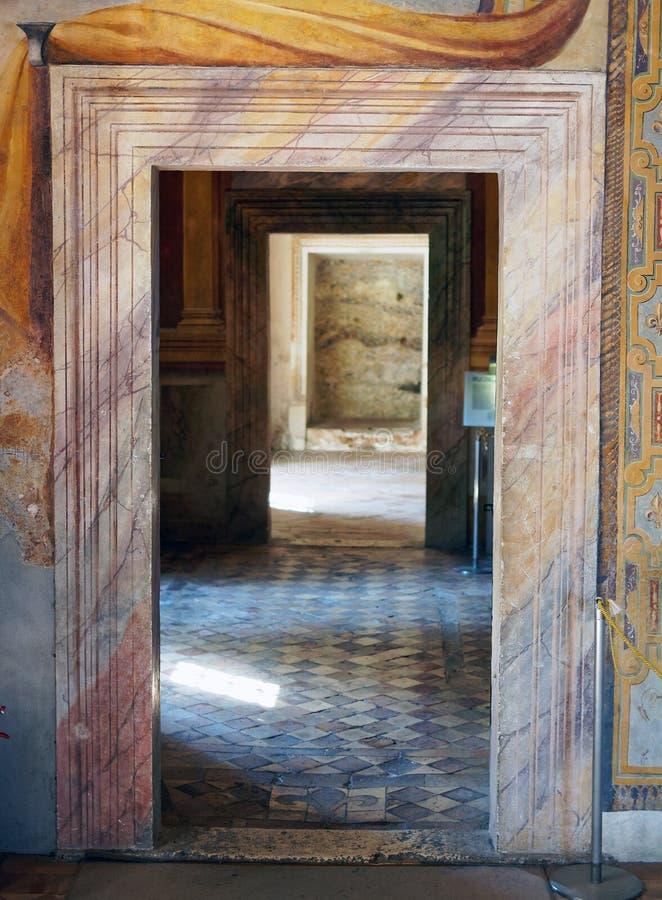 Coloured Marble Door Frame, Villa D Este, Italy Stock Photo - Image ...