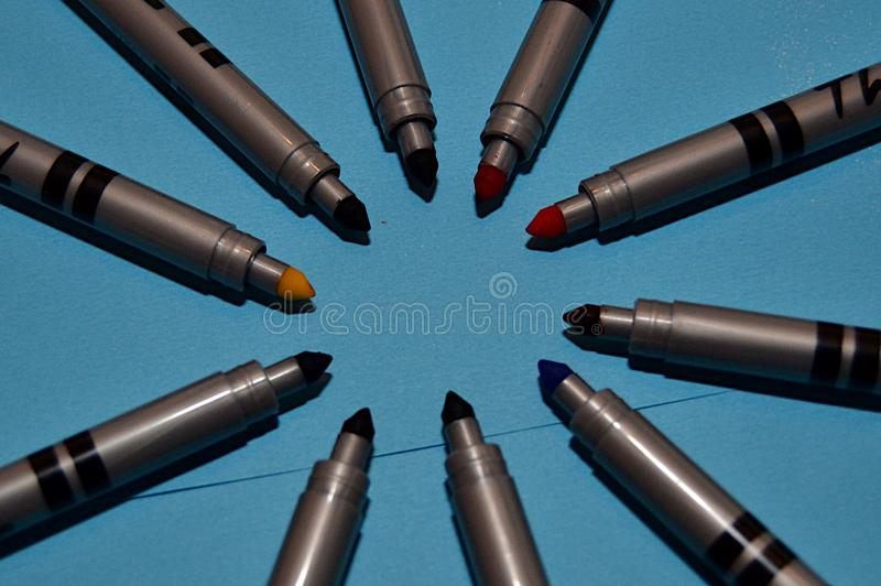 Coloured markers for drawing royalty free stock photo