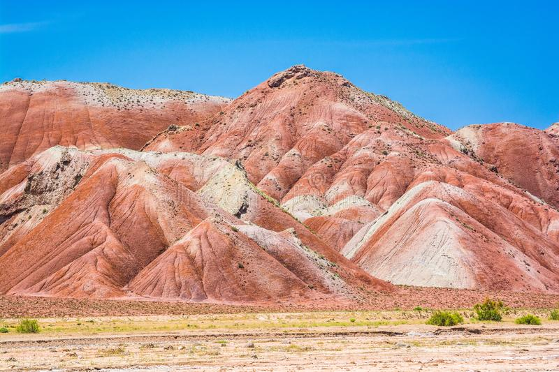 Coloured mountains in Zanjan Province, Iran stock photo