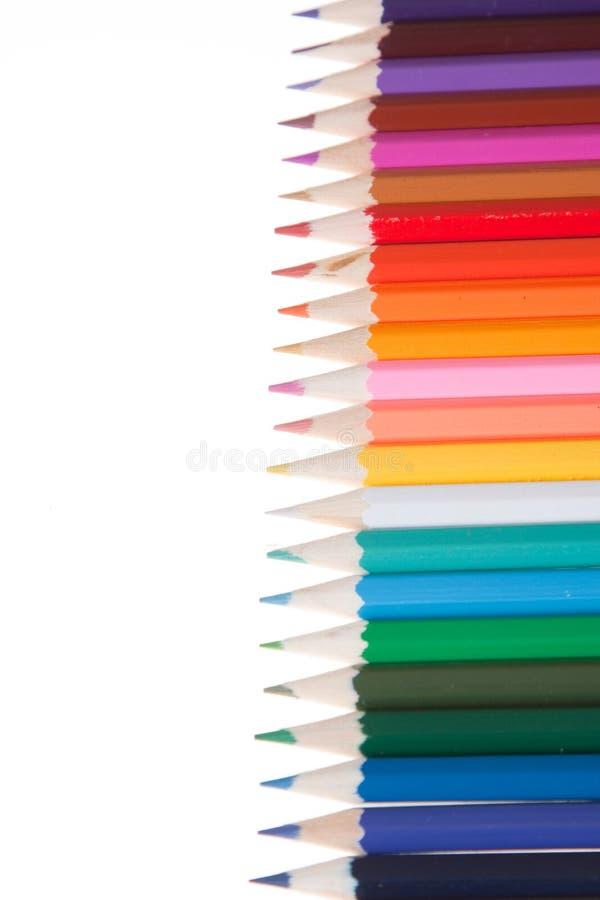 Coloured ołówki obraz royalty free