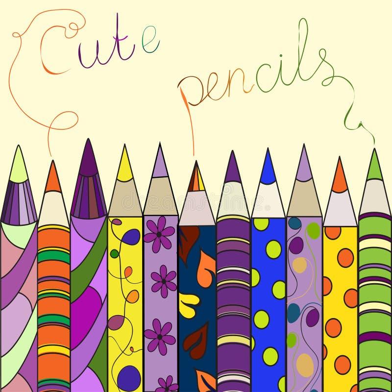 Coloured ołówki. Twórczość tematu tło. royalty ilustracja
