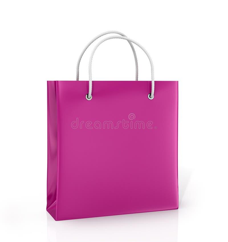 Coloured paper bag stock illustration