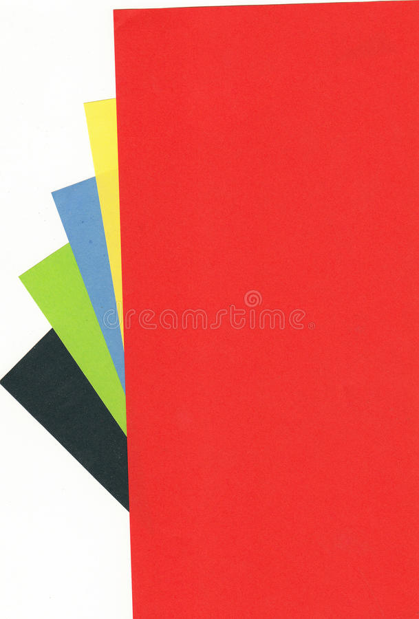 Coloured papers royalty free stock images