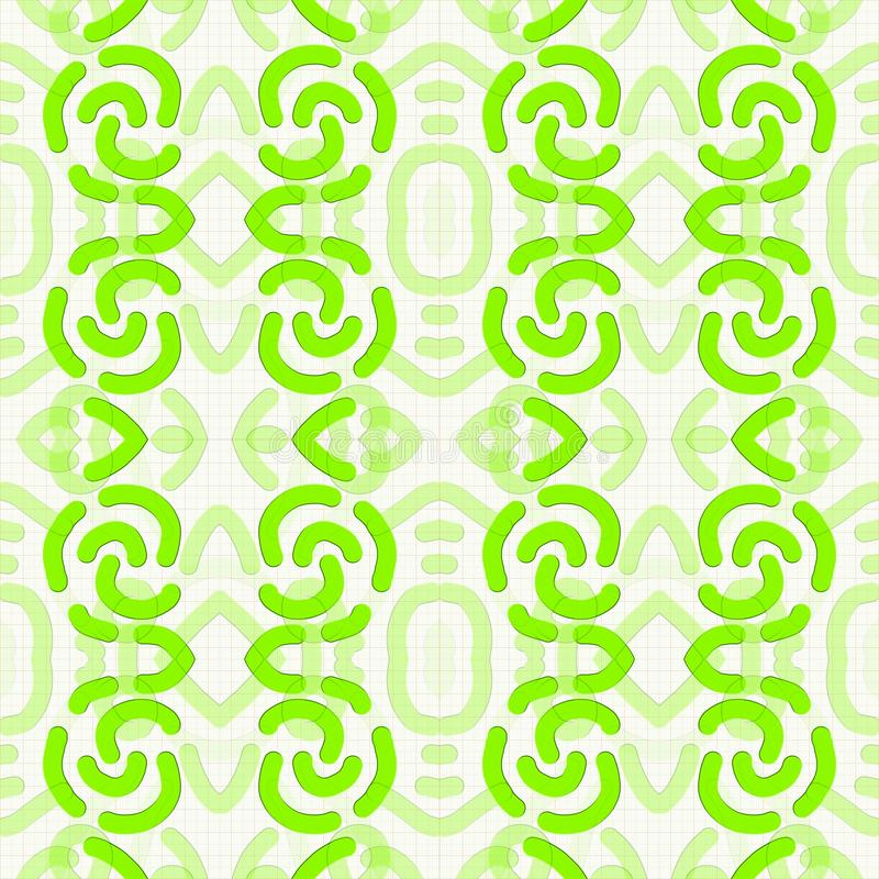 Backgrounds and patterns. Coloured pattern inspired by African ethnic design on squared sheet stock illustration