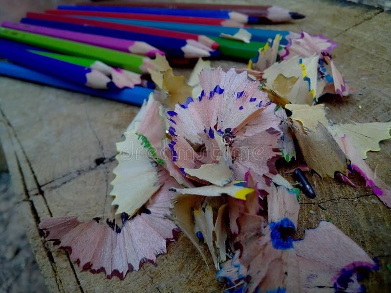 Coloured pencil. Texture royalty free stock image