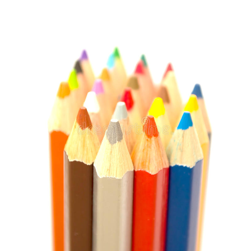 Coloured pencil royalty free stock photo