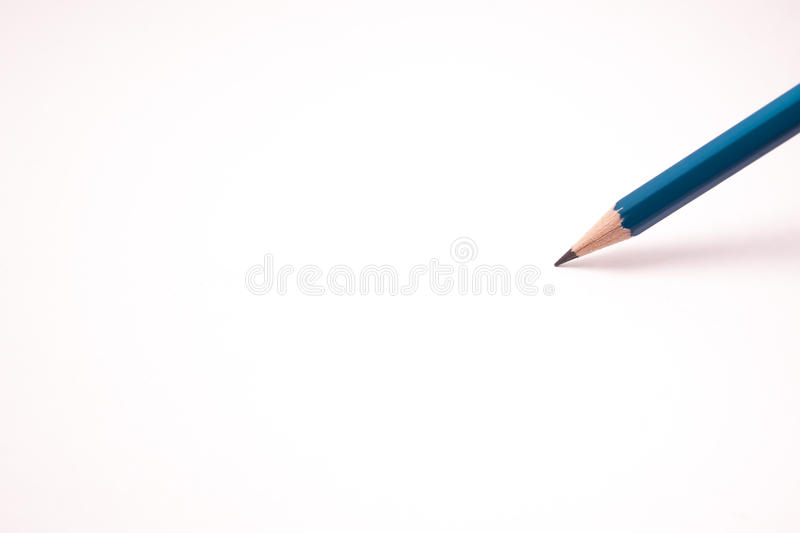 Coloured pencil. On white background and copy space royalty free stock photos