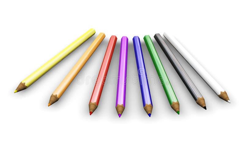 Coloured pencils stock illustration
