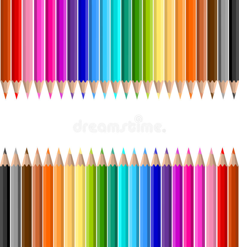 Coloured pencils vector illustration