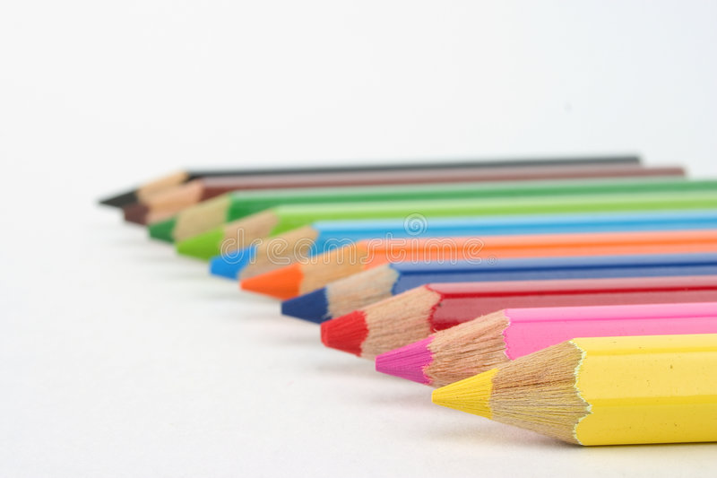 Download Coloured pencils stock image. Image of crayons, colours - 155815