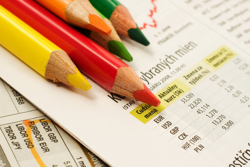 Download Coloured Pencils stock photo. Image of finance, investing - 5864898