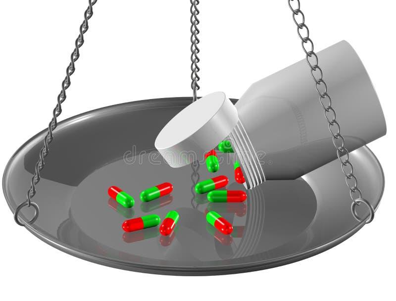 Coloured pills stock illustration