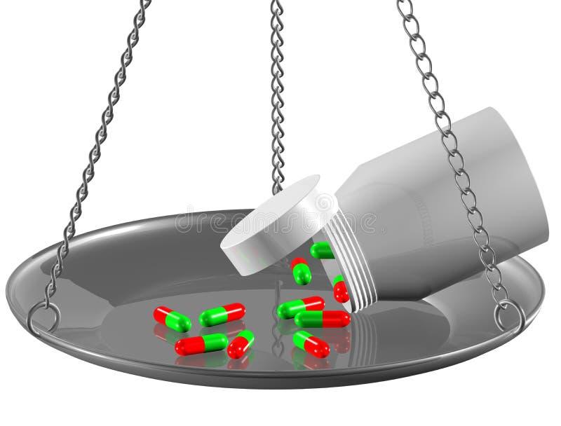 Coloured pills vector illustration