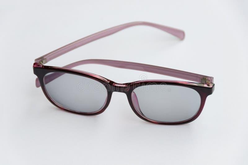 Plastic Eyeglasses isolated on white background stock photo
