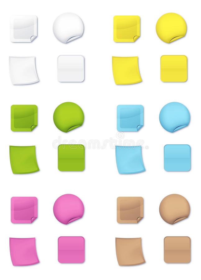 Download Coloured post-it stock vector. Illustration of different - 13671765