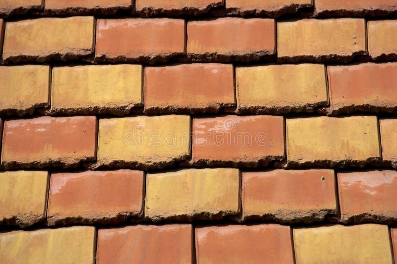 Coloured roof tiles. Horizontal stock photo
