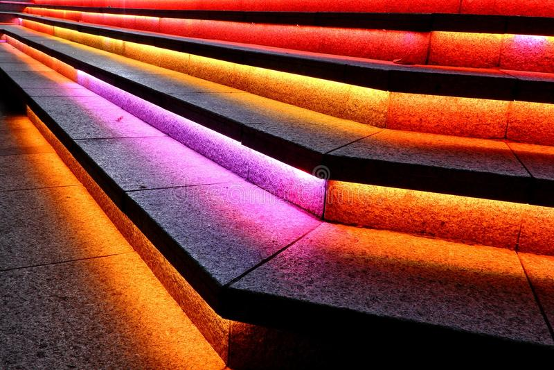 Coloured schodki w Singapur fotografia royalty free