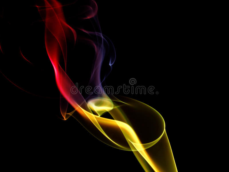 Coloured smoke royalty free stock images