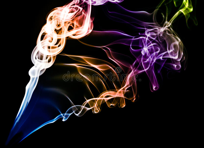 Download Coloured smoke on black stock photo. Image of fume, clouds - 13457378