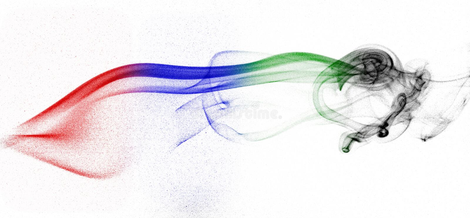 Coloured smoke patterns stock images