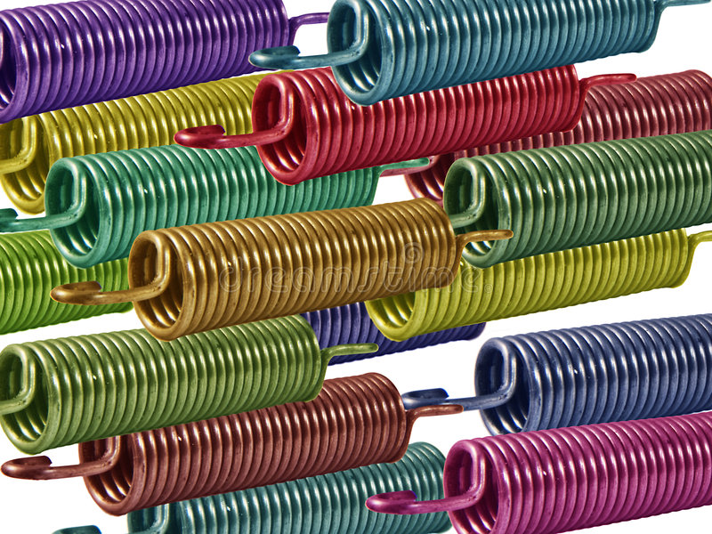Download Coloured Springs 2 stock image. Image of stretch, elastic - 4675715