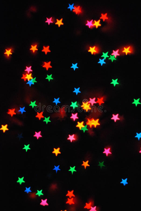 Coloured stars stock photography