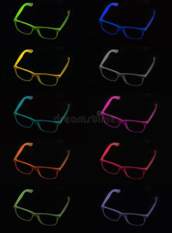 Coloured sunglasses royalty free stock photos