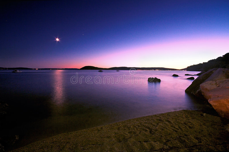 Coloured sunset stock photography
